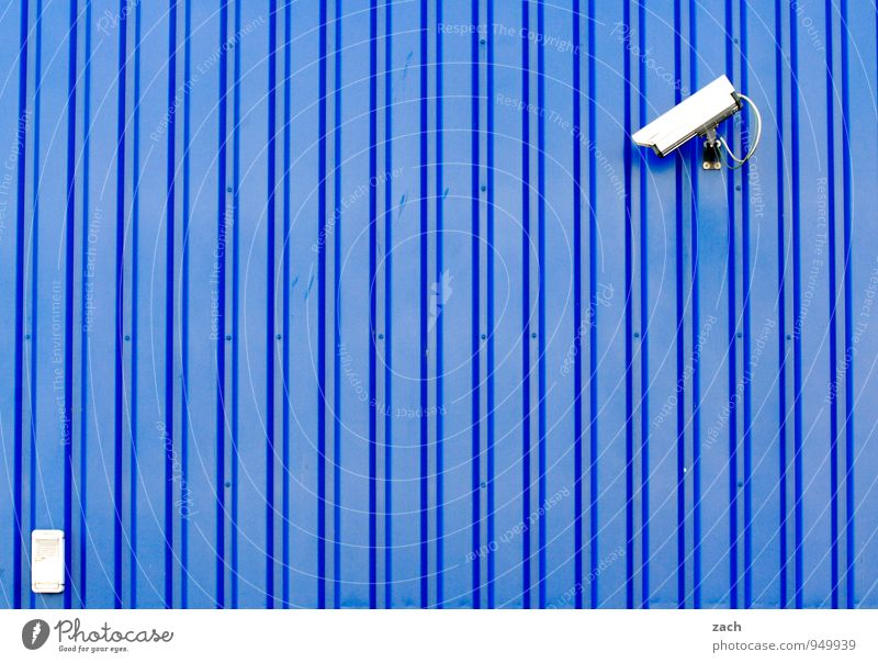 from the right Video camera Technology Advancement Future High-tech Information Technology Town Industrial plant Wall (barrier) Wall (building) Facade Line