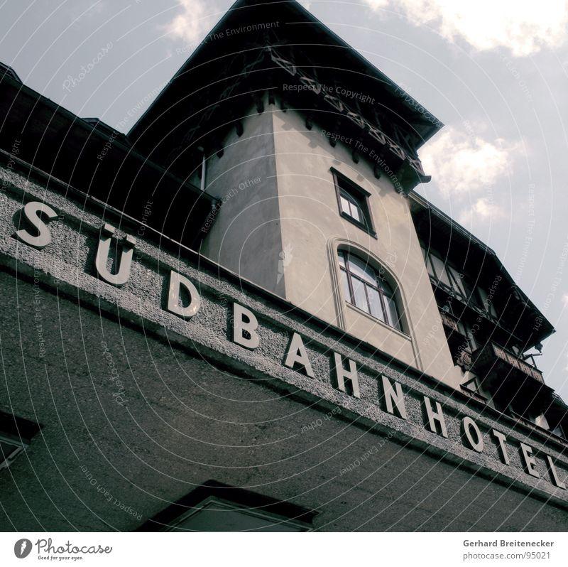 Old Loneliness Dark Window Concrete Gloomy Threat Hotel Derelict Austria