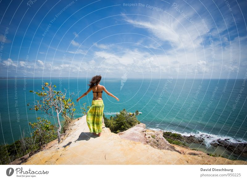 Be free II Vacation & Travel Adventure Far-off places Summer vacation Human being Feminine Young woman Youth (Young adults) Body 1 Nature Landscape Sky Clouds