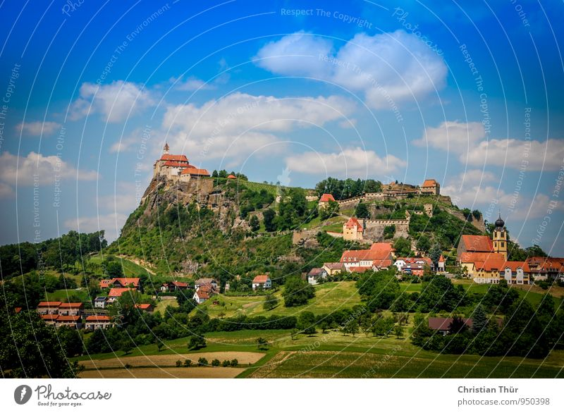 riegersburg Vacation & Travel Tourism Trip Summer Mountain Hiking Environment Nature Landscape Sky Clouds Beautiful weather Plant Tree Grass Bushes Forest Hill