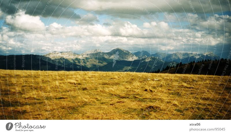 Sky Blue Clouds Yellow Mountain Horizon Vantage point France Annecy