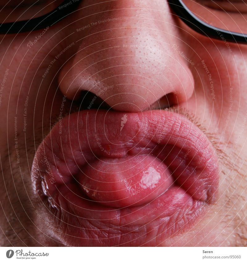 Big shit Sulk Lips Smacker Pug nose Facial hair Grimace Face Oral Mouth Nose Designer stubble Funny Brash Distorted Tongue