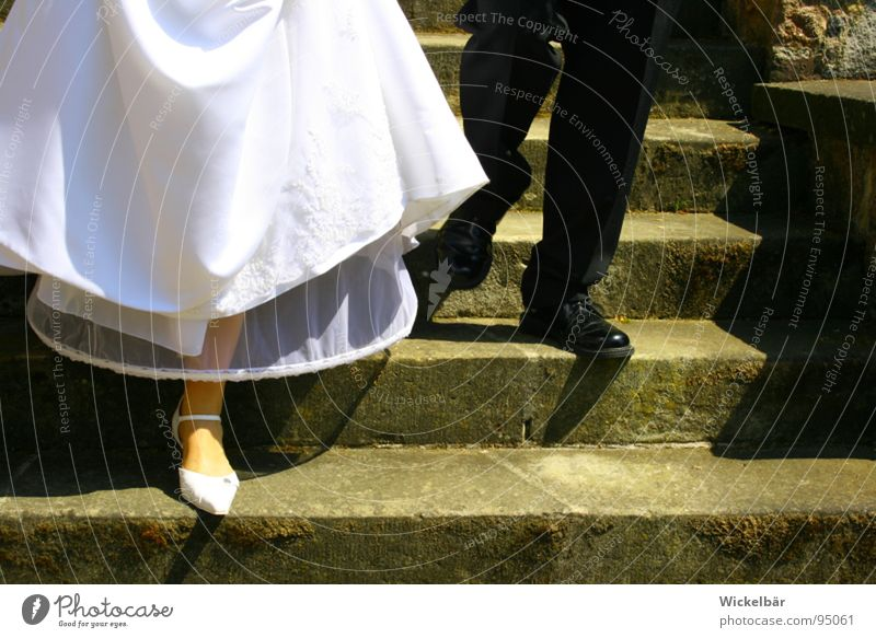 Get to the buffet.... Wedding Bride Bride groom Matrimony Couple Connectedness Husband Wife Together Harmonious Footwear Under Family & Relations Wedding band