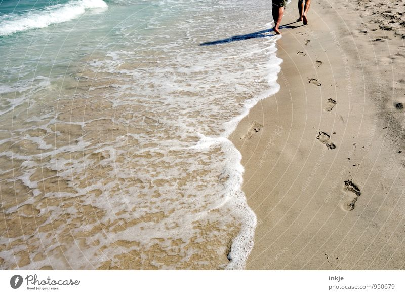 Human being Woman Vacation & Travel Man Summer Relaxation Ocean Beach Adults Life Coast Lanes & trails Freedom Legs Sand Feet
