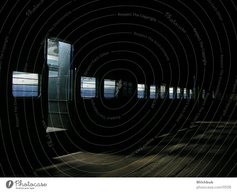 Black Loneliness Dark Window Transport Railroad Empty