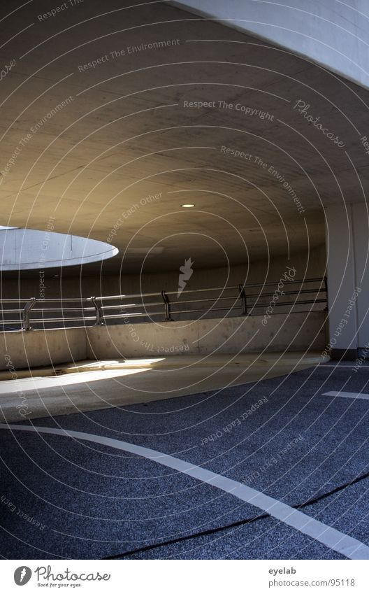 Sun Architecture Gray Line Lighting Large Places Concrete Transport Modern Empty New Stripe Round Handrail Motor vehicle