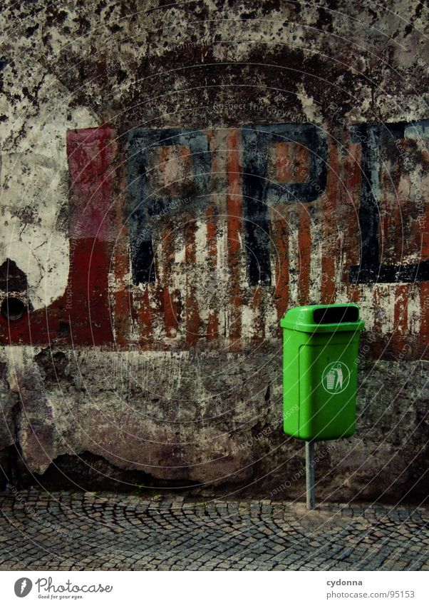 Urban Green I Portugal Residential area Decline Vacation & Travel Discover Foreign Town Beautiful Curiosity Optimism Trash container Logo Symbols and metaphors