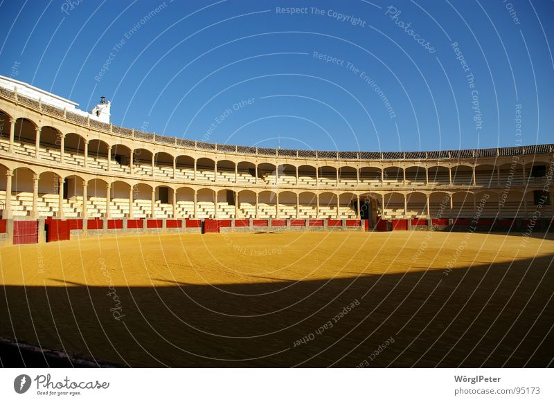 Architecture Spain Bull Arena Andalucia Bullfight Ronda Bullring