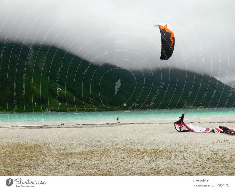 Human being Man Joy Beach Clouds Sports Forest Dark Cold Mountain Lake Coast Fear Wind Dangerous Threat