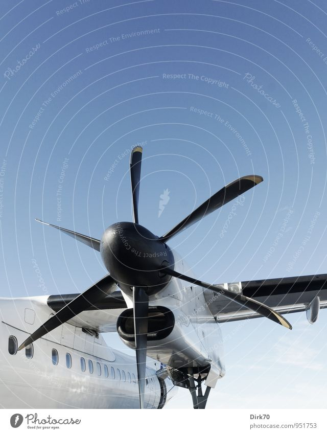 turbopropic Vacation & Travel Summer Summer vacation Aviation Technology Cloudless sky Sunlight Beautiful weather Transport Airplane Passenger plane