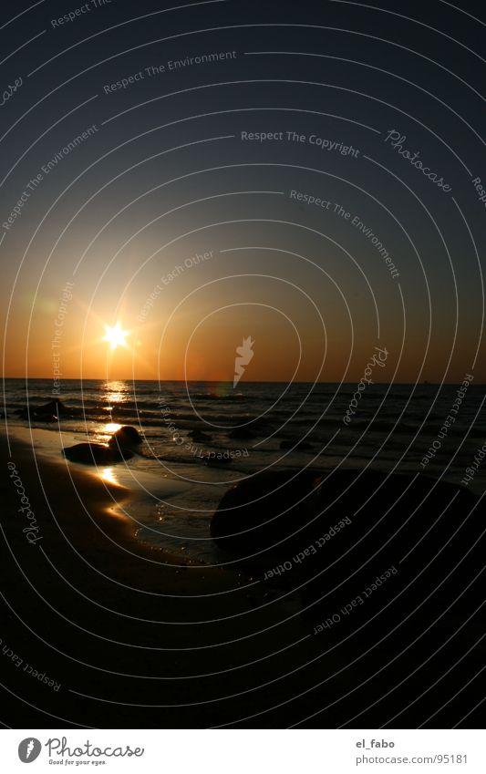 Water Sky Ocean Beach Vacation & Travel Far-off places Dark Stone Waves Coast Romance Baltic Sea Fragment Nordstrand island