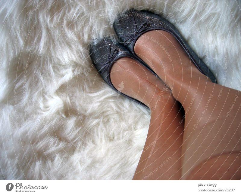 White Joy Relaxation Freedom Happy Legs Feet Footwear Contentment Dance Glittering Broken Soft Pelt Long Fatigue