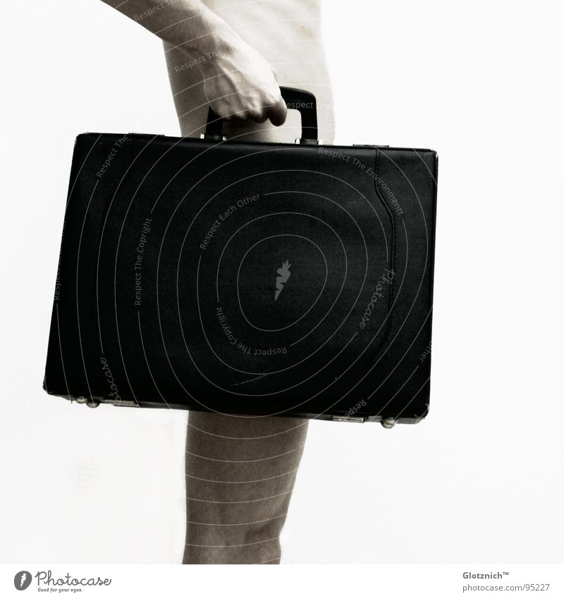 Human being Man Hand Legs Business Skin Arm Fingers Stand Leather Bag Suitcase Door handle Knee Limbs