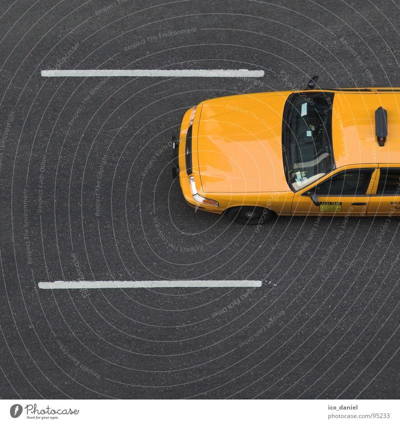 Yellow Cab I - New York City Services Transport Means of transport Passenger traffic Motoring Street Car Taxi Free Speed Asphalt Manhattan Broadway