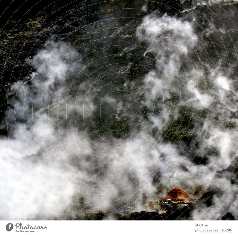 Stone Landscape Blaze Fire Italy Smoke Steam Volcano Sulphur Naples