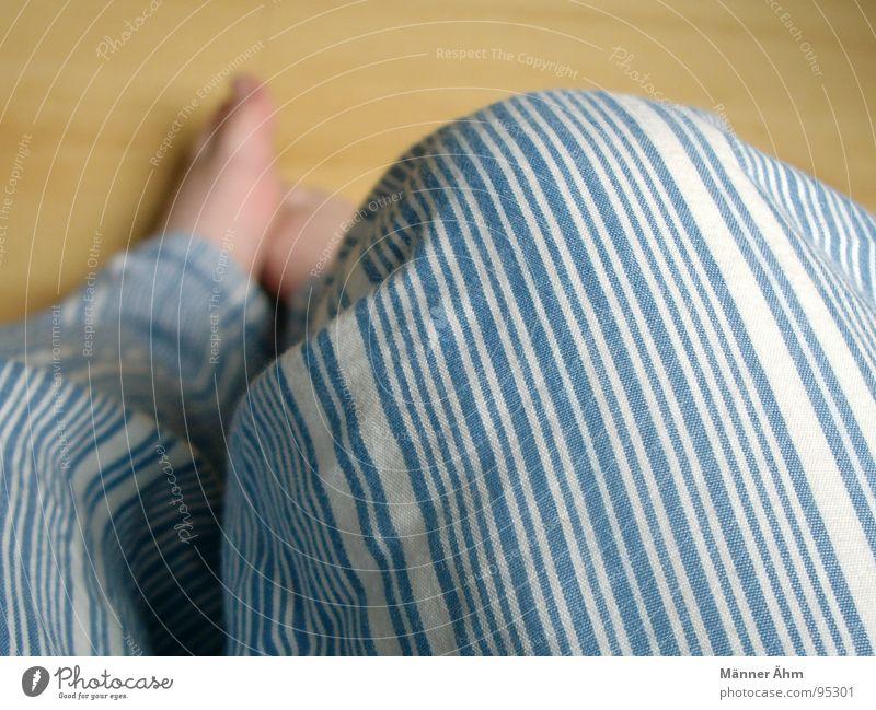 Woman Wood Feet Sleep Sit Floor covering Stripe Toes Household Bedroom Cotton Laminate Pyjama