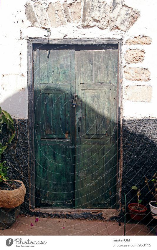 Old Art Door Contentment Esthetic Spain Derelict Mediterranean Gate Entrance Front door Doorframe Main gate