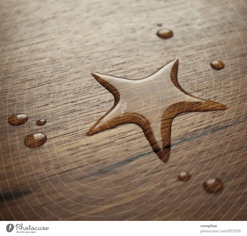 Christmas & Advent Water Style Wood Feasts & Celebrations Swimming & Bathing Brown Design Dance Table Drops of water Drinking water Climate Star (Symbol)