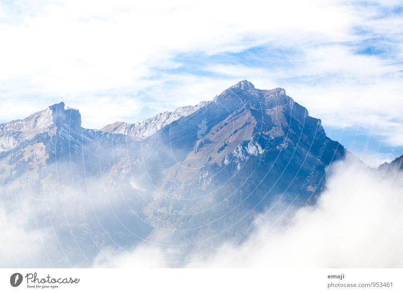 Nature Blue White Clouds Environment Mountain Rock Climate Beautiful weather Alps