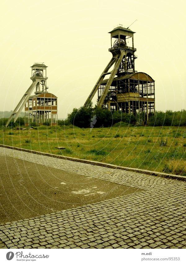 Maasmechelen Colliery Mine Spontaneous Fog Symmetry Industry Tower old-new