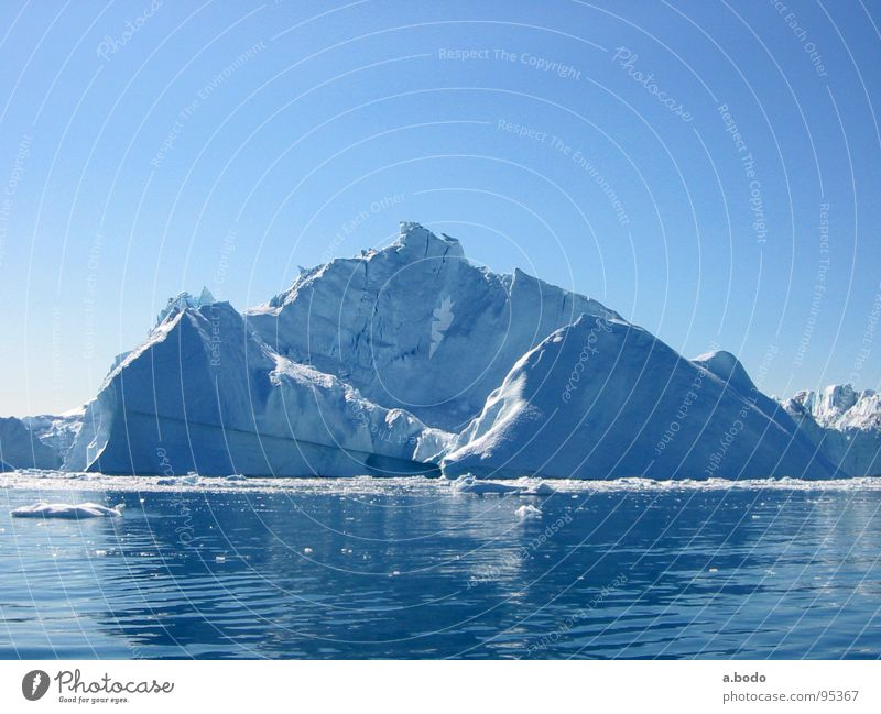 Sky Ocean Mountain Alpine pasture Iceberg Greenland Jakobshavn