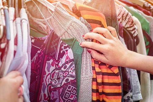 Flea market - Clothes - Buy Lifestyle Shopping Human being Feminine Hand 1 Fashion Clothing Hanger Sell Hip & trendy Positive Anticipation Determination