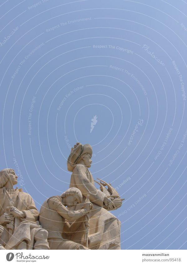 Sky Blue Stone Success Statue Monument Seaman
