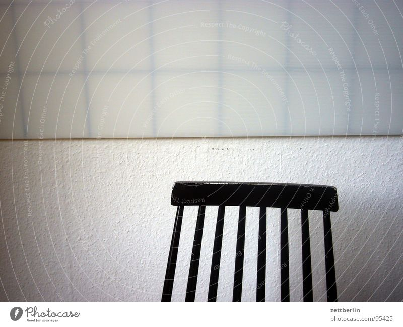 White Calm Black Loneliness Wall (building) Death Happy Wait Sit Empty Grief Kitchen Chair Tile Wallpaper Furniture