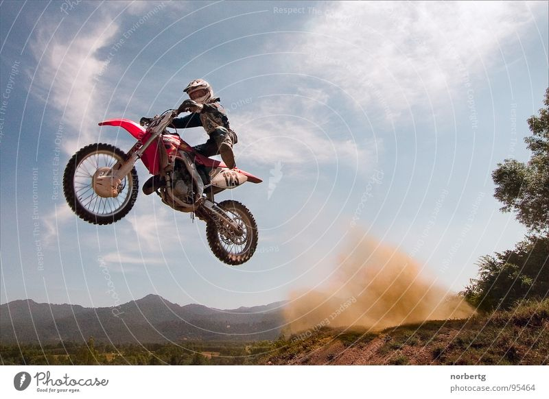 Jump Flying Motorcycle Dust Motorsports Motocross bike