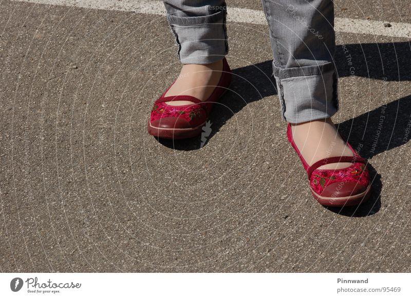 Red cap? Footwear Pants Break Clothing red cap Street shadow shoes shoe shadow beautiful legs Feet Jeans Wait