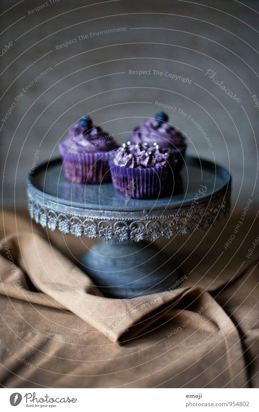 violet Cake Dessert Candy Cupcake Nutrition Finger food Delicious Sweet Violet Colour photo Interior shot Studio shot Deserted Day Shallow depth of field