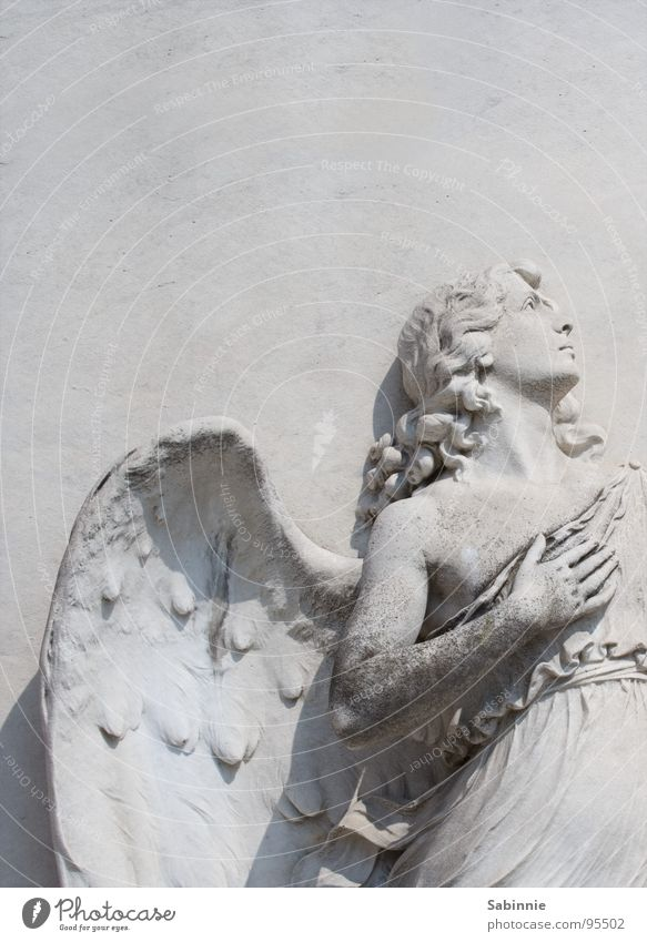 Moody Power Angel Wing Passion Statue Sculpture Italy Venice Enthusiasm Cemetery Christianity Grave Willpower House of worship Tomb