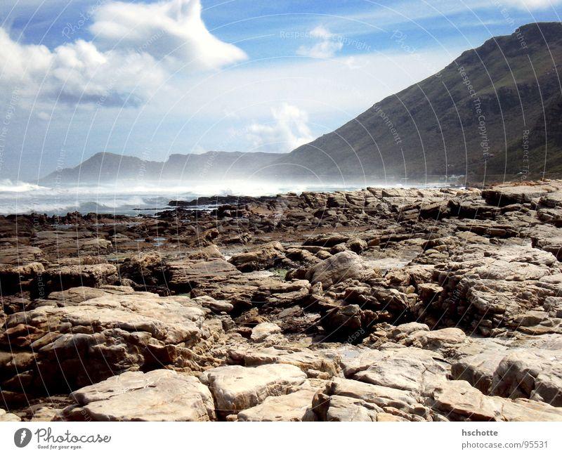 Ocean Beach Mountain Waves Coast Rock Africa Surf Cape