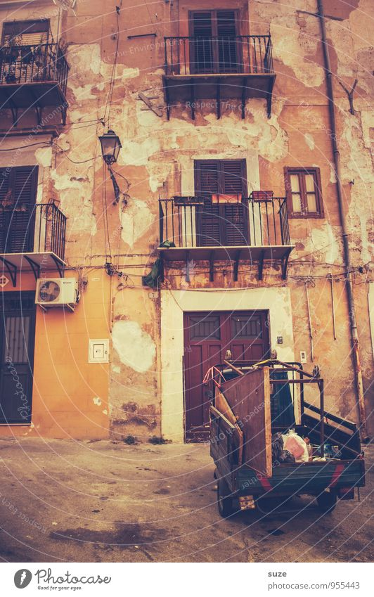Vacation & Travel Old City Window Street Travel photography Architecture Building Style Facade Dirty Car Door Authentic Stand Transience