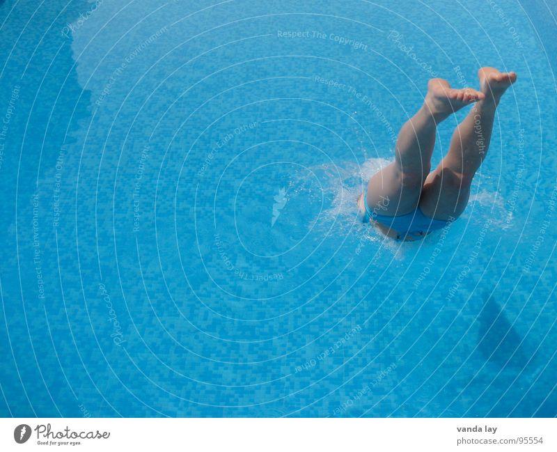 Woman Water Ocean Summer Joy Vacation & Travel Sports Jump Playing Feet Legs Wet Speed Bathroom Swimming pool Swimming & Bathing
