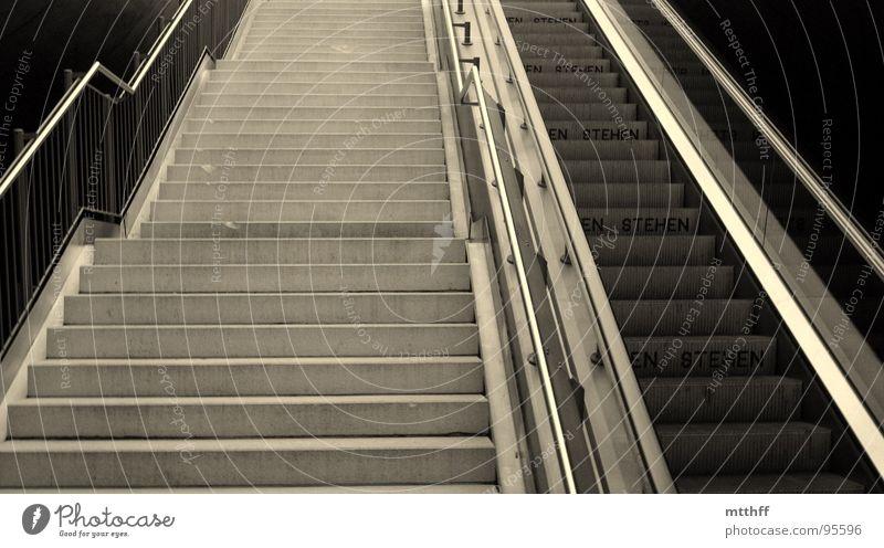 Stairs Tunnel Underground Train station Upward Handrail Effort Escalator