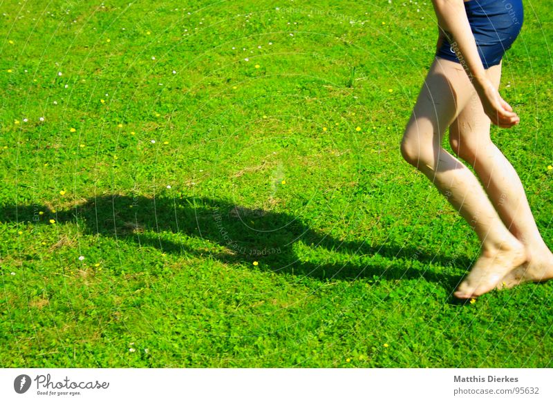 Child Sun Summer Joy Colour Meadow Playing Boy (child) Garden Lake Skin Wet Refreshment Barefoot Swimming trunks Brilliant
