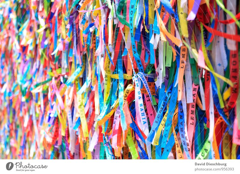 bonfim Vacation & Travel Sightseeing Summer vacation Art Blue Multicoloured Yellow Green Violet Orange Pink Red Black White String Brazil ribbon of happiness