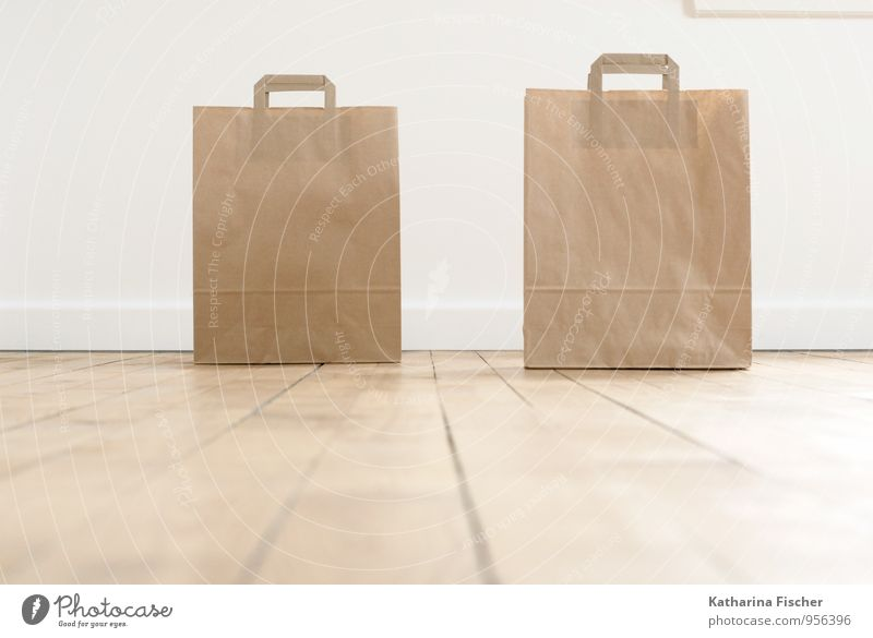 no longer alone Packaging Design Paper bag Containers and vessels Floor covering Interior design Carry handle Shopping bag Wooden floor Recycling