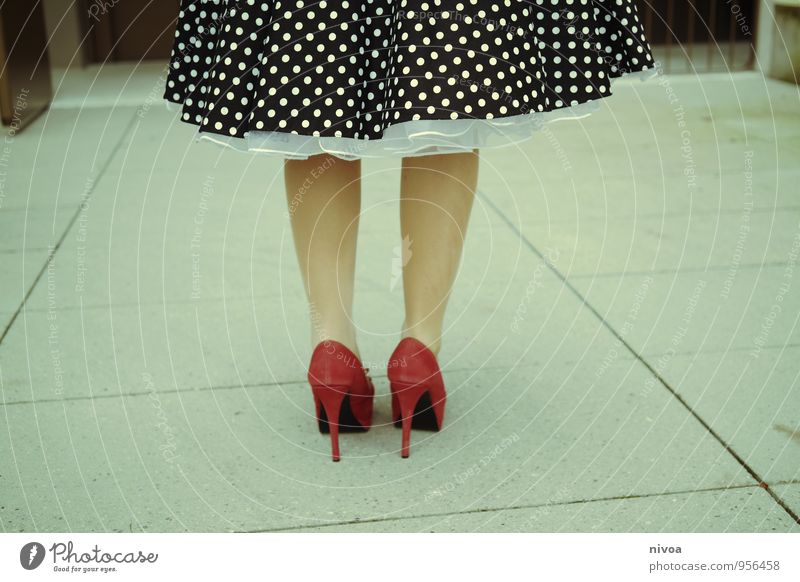 Human being Woman Colour Red Adults Life Emotions Feminine Lanes & trails Style Stone Legs Going Feet Lifestyle Stand