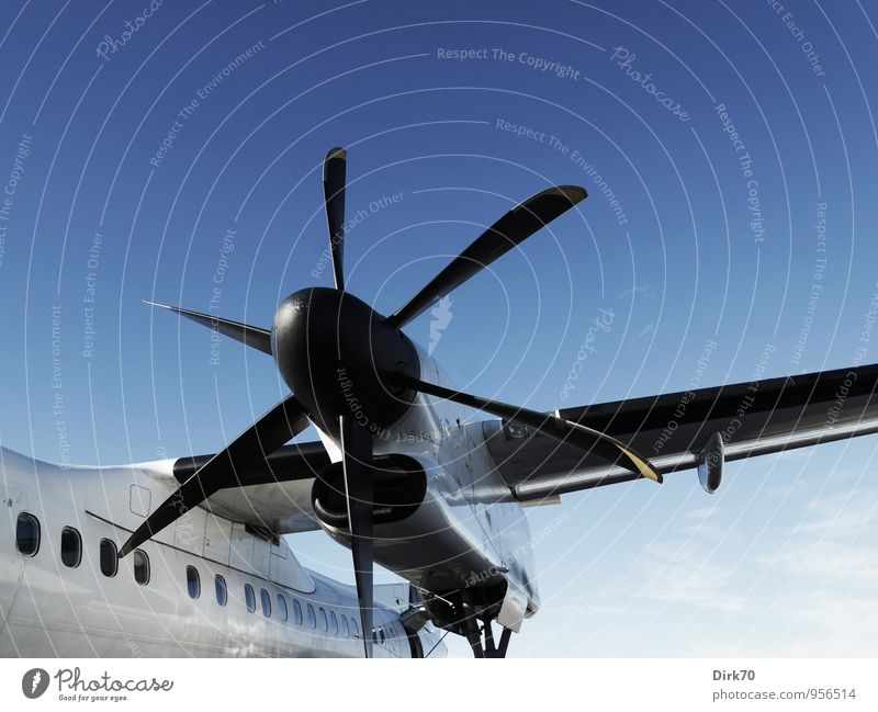 Vacation & Travel Blue White Black Cold Horizon Power Tourism Aviation Transport Speed Technology Airplane Future Strong Mobility