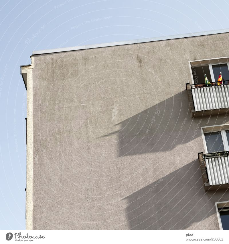 Old Blue Calm House (Residential Structure) Wall (building) Architecture Berlin Wall (barrier) Gray Above Metal Flat (apartment) Living or residing High-rise