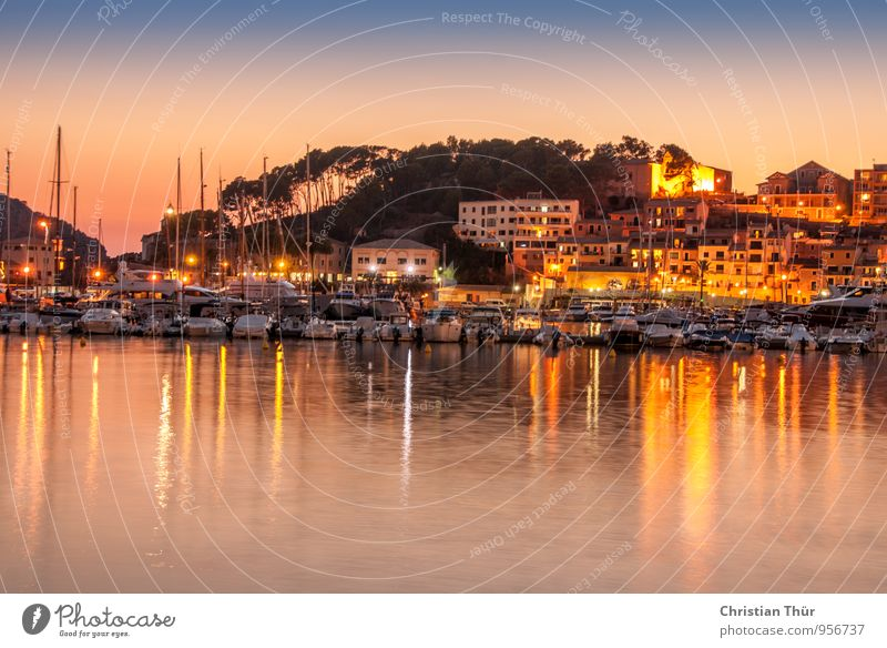 Evening in the harbour Life Harmonious Well-being Contentment Senses Relaxation Calm Meditation Vacation & Travel Tourism Trip Adventure Far-off places Freedom