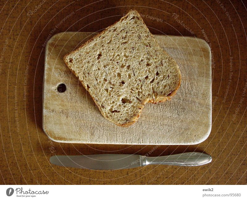 Lent Food Dough Baked goods Bread Nutrition Breakfast Fasting Crockery Knives Chopping board wooden boards Kitchen Meal Diet To enjoy Simple Dry Modest Thrifty