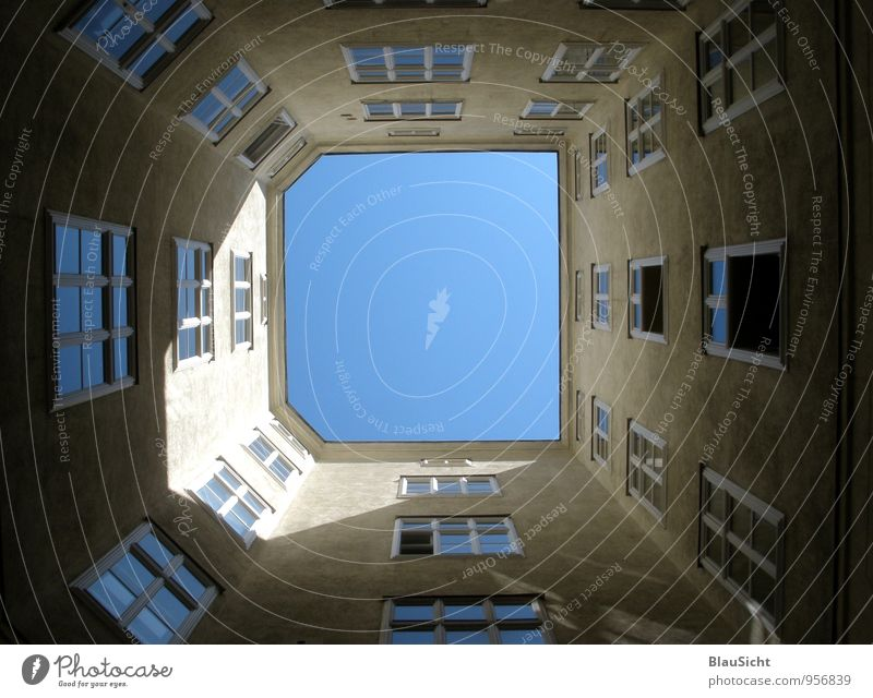 Blue House (Residential Structure) Brown Capital city Old town Equal Interior courtyard