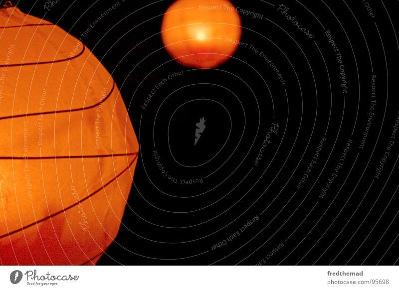 Orange Club Lantern Planet Mars Lampion Black Holes