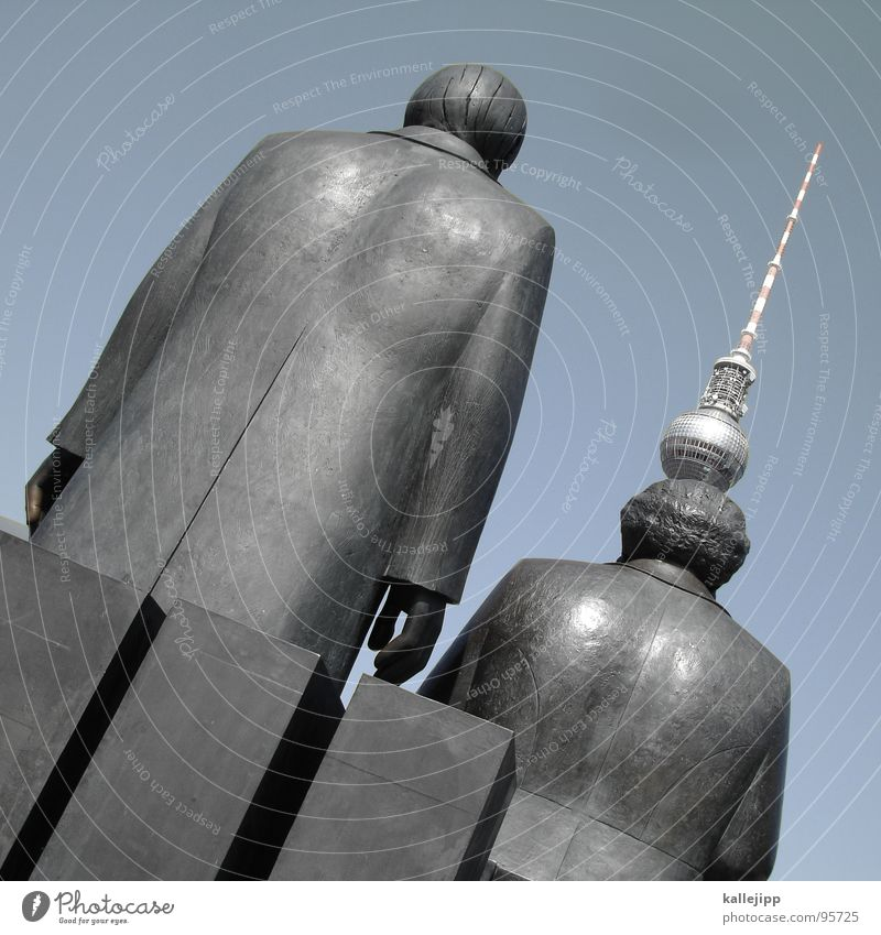 Human being Red Berlin Hair and hairstyles Art Places Hat Past Monument Traffic infrastructure Statue GDR Russia Capital city Berlin TV Tower