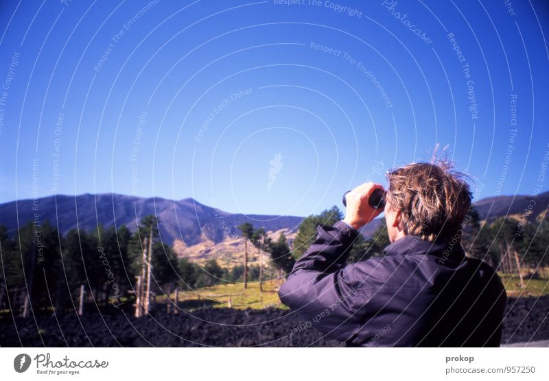 Etna Vacation & Travel Tourism Trip Human being Masculine Young man Youth (Young adults) Man Adults Head 1 Environment Nature Landscape Elements Sky