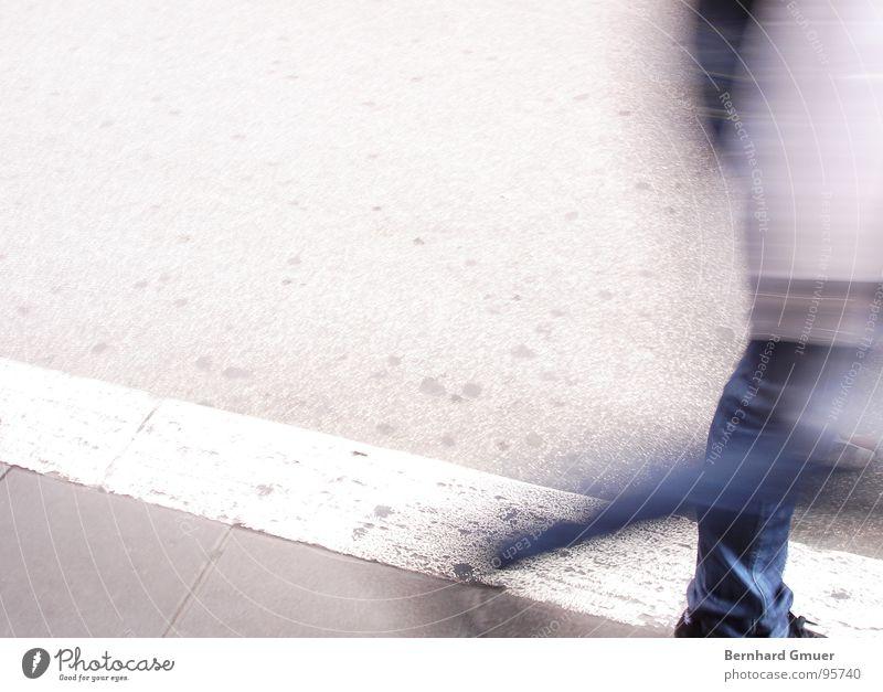 Human being Man Street Movement Going Sidewalk Haste In transit