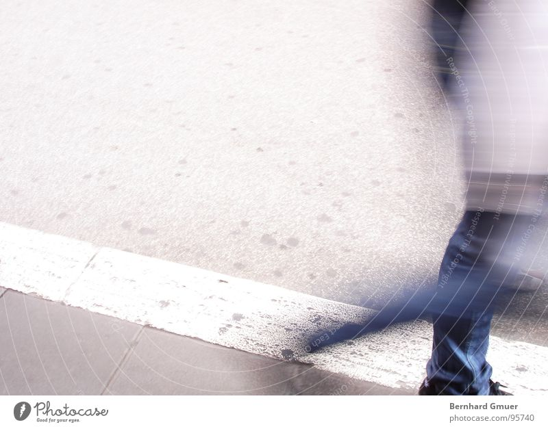 in a hurry Sidewalk In transit Going Man Street steep Human being Haste Movement